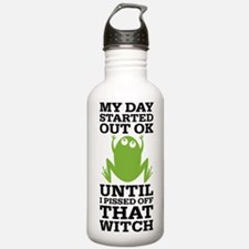 Funny Frog Mean Witch Water Bottle