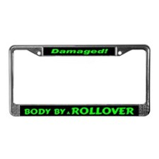 Green Rollover License Plate Frame