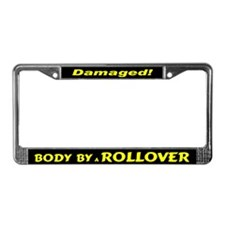 Yellow Rollover License Plate Frame