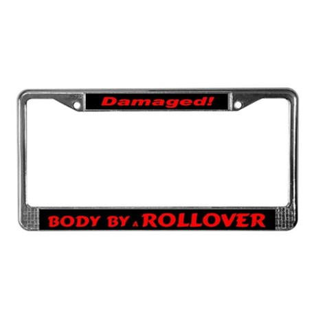 Red Rollover License Plate Frame