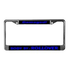 Blue Rollover License Plate Frame
