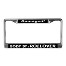White Rollover License Plate Frame