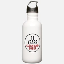 11 Years Clean & Sober Water Bottle