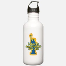 Liberty and Justice Water Bottle