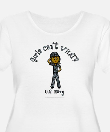 Dark Navy Girl USA T-Shirt