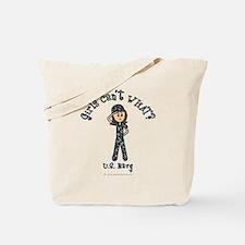 Light Navy Girl USA Tote Bag