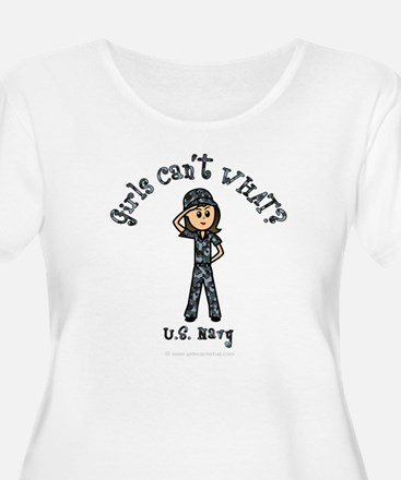 Light Navy Girl USA T-Shirt