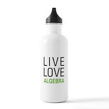 Live Love Algebra Water Bottle