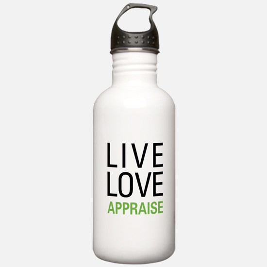 Live Love Appraise Water Bottle