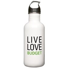 Live Love Budget Sports Water Bottle