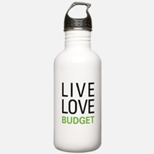 Live Love Budget Water Bottle