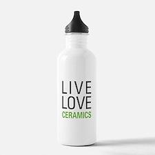 Live Love Ceramics Water Bottle
