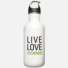 Live Love Coins Water Bottle