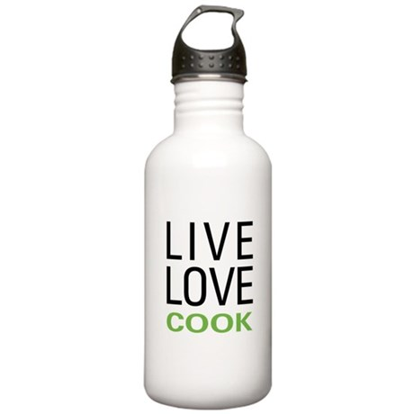 Live Love Cook Stainless Water Bottle 1.0L