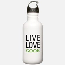 Live Love Cook Water Bottle