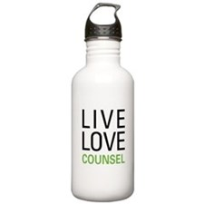 Live Love Counsel Water Bottle