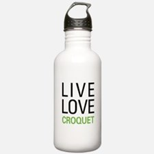 Live Love Croquet Water Bottle