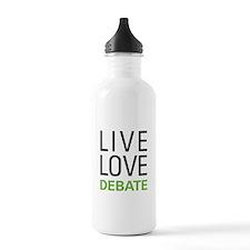 Live Love Debate Water Bottle