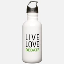 Live Love Debate Water Bottle
