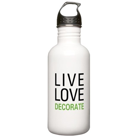 Live Love Decorate Stainless Water Bottle 1.0L