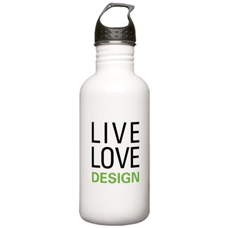Live Love Design Stainless Water Bottle 1.0L