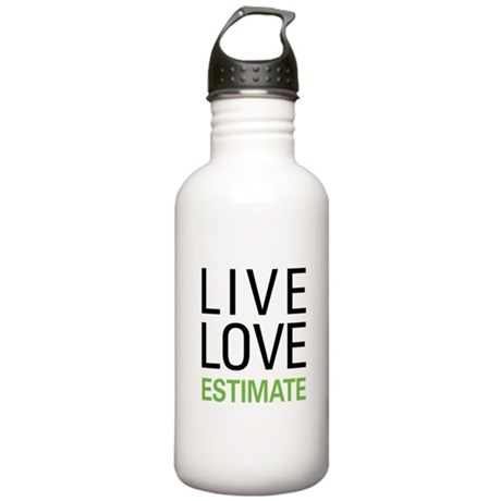 Live Love Estimate Stainless Water Bottle 1.0L