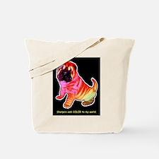 Sharpei - Sharp Hey in Rainbow colors Tote Bag