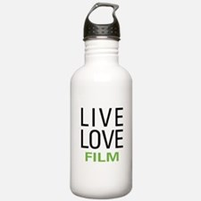 Live Love Film Water Bottle