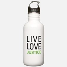 Live Love Justice Water Bottle