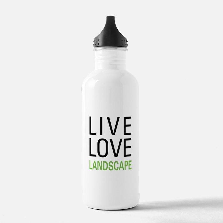 Live Love Landscape Water Bottle