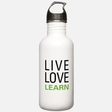 Live Love Learn Sports Water Bottle