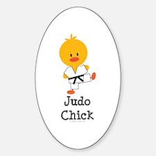 Judo Chick Sticker (Oval)