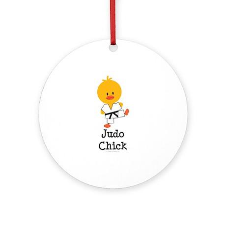 Judo Chick Ornament (Round)