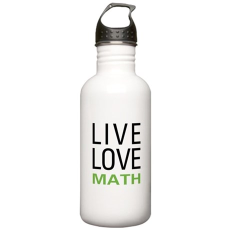 Live Love Math Stainless Water Bottle 1.0L
