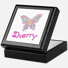Pink Butterfly Sherry Keepsake Box