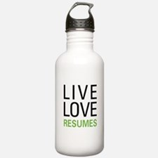 Live Love Resumes Water Bottle