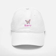 Pink Butterfly Sherry Baseball Baseball Cap