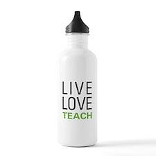 Live Love Teach Sports Water Bottle