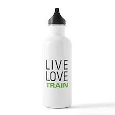 Live Love Train Water Bottle
