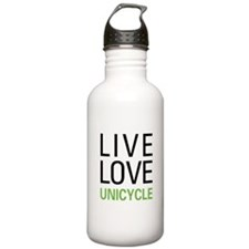 Live Love Unicycle Water Bottle