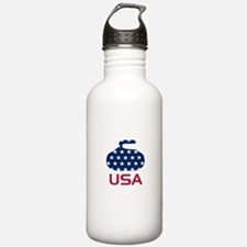 USA curling Water Bottle