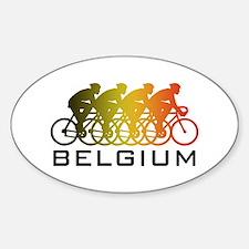 Belgium Cycling Decal