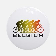 Belgium Cycling Ornament (Round)