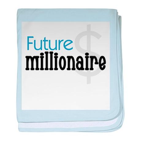 Future Millionaire Blue baby blanket