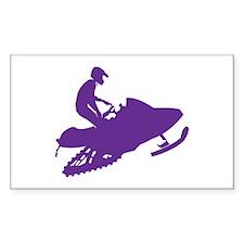 Snowmobiler in Purple Decal