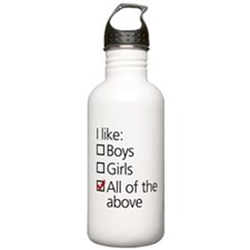I Like Boys AND Girls Water Bottle