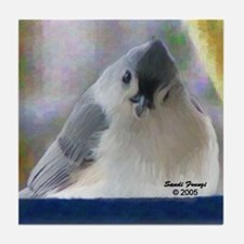 Tufted Titmouse Bird Tile Coaster