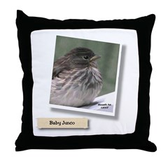 Baby Junco Throw Pillow