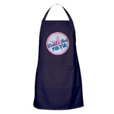 World's Best Yia Yia Gifts Apron (dark)