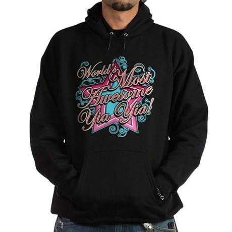 Worlds Most Awesome Yia Yia Hoodie (dark)